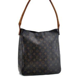 Auth Louis Vuitton Looping Gm Bag #878L22